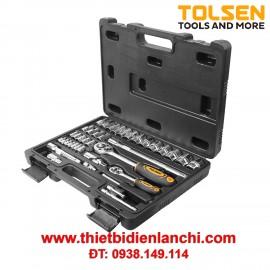 Bộ tuýp 1/2 inch và 1/4 inch Tolsen 15140 (39 món)