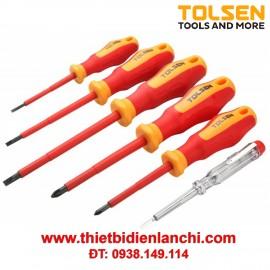 Bộ vít cách điện Tolsen 38013 (Đỏ)