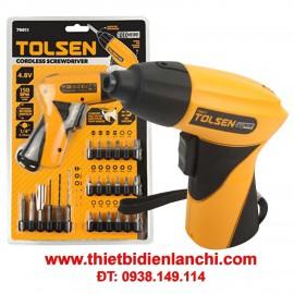 Bộ máy vặn vít  không dây Tolsen 79011 (Màu cam)