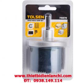 Bộ khoét lỗ 7 cái Tolsen 75870